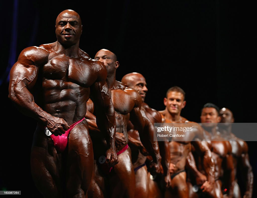 Toney Freeman of the USA poses during the IFBB Australia Pro Grand Prix at The Plenary on March 9, 2013 in Melbourne, Australia.