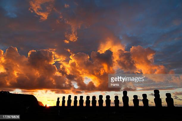 Tongariki sunrise Easter Island