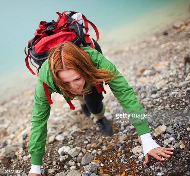 Tongariro Crossing series - climbing