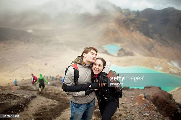 Tongariro Crossing series - happy couple