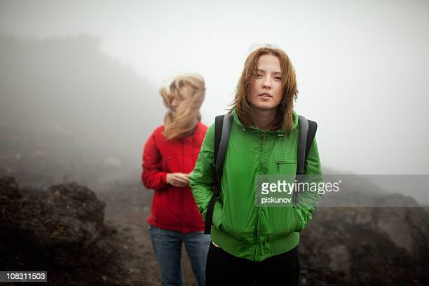 Tongariro Crossing series - in the mist