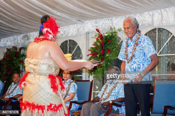 Tonga's Prime Minister Akilisi Pohiva attends the opening of the 48th Pacific Islands Forum in Apia Samoa on September 5 2017 The 48th PIF leaders...