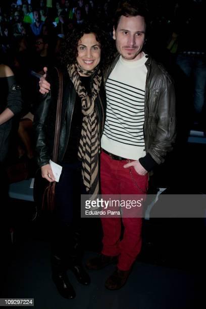 Toni Acosta and Ruben Ochandiano attend the Agatha Ruiz de la Prada fashion show during the Cibeles Madrid Fashion Week A/W 2011 at Ifema on February...