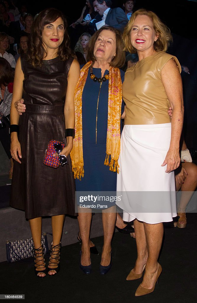 Toni Acosta, Natalia Figueroa and Ana Rodriguez attend a fashion show during the Mercedes Benz Fashion Week Madrid Spring/Summer 2014 on September 13, 2013 in Madrid, Spain.