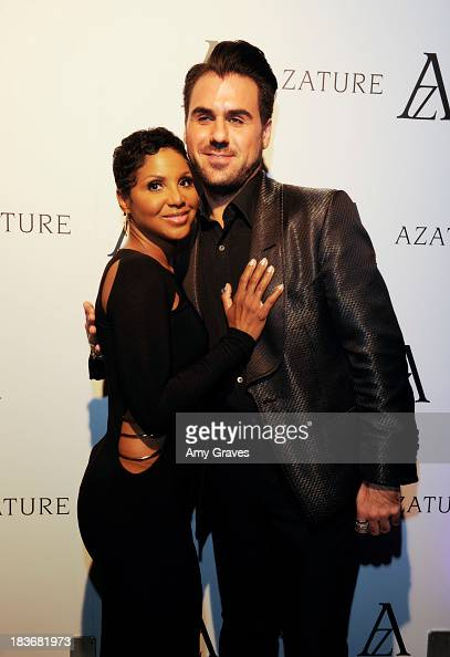 Toni Braxton and Azature Pogosian attend the Black Diamond Affair Presented by Azature at Sunset Tower on October 8 2013 in West Hollywood California