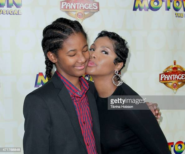 Toni Braxton and her son Diezel Ky BraxtonLewis attend 'Motown The Musical' opening night at the Pantages Theatre on April 30 2015 in Hollywood...
