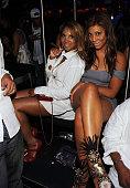 Toni Braxton and Tamar Braxton attend The Bank Nightclub at The Bellagio Hotel and Casino Resort on May 24 2009 in Las Vegas Nevada