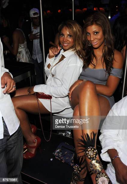 Toni Braxton and Tamar Braxton attend The Bank Nightclub at The Bellagio Hotel and Casino Resort on May 24 2009 in Las Vegas Nevada