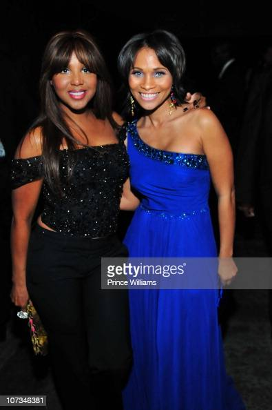 Toni Braxton and Terrinee Briggs attend the 2010 Winter Ball at the Delta Air Transport Heritage Museum on December 4 2010 in Atlanta Georgia