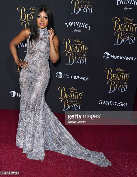 Toni Braxton arrives a the Premiere Of Disney's 'Beauty And The Beast' at El Capitan Theatre on March 2 2017 in Los Angeles California