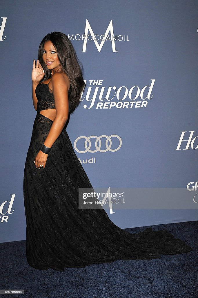 Toni Braxton arrives at The Hollywood Reporter celebrates the 84th annual Academy Awards nominees at the Getty House on February 23 2012 in Los...