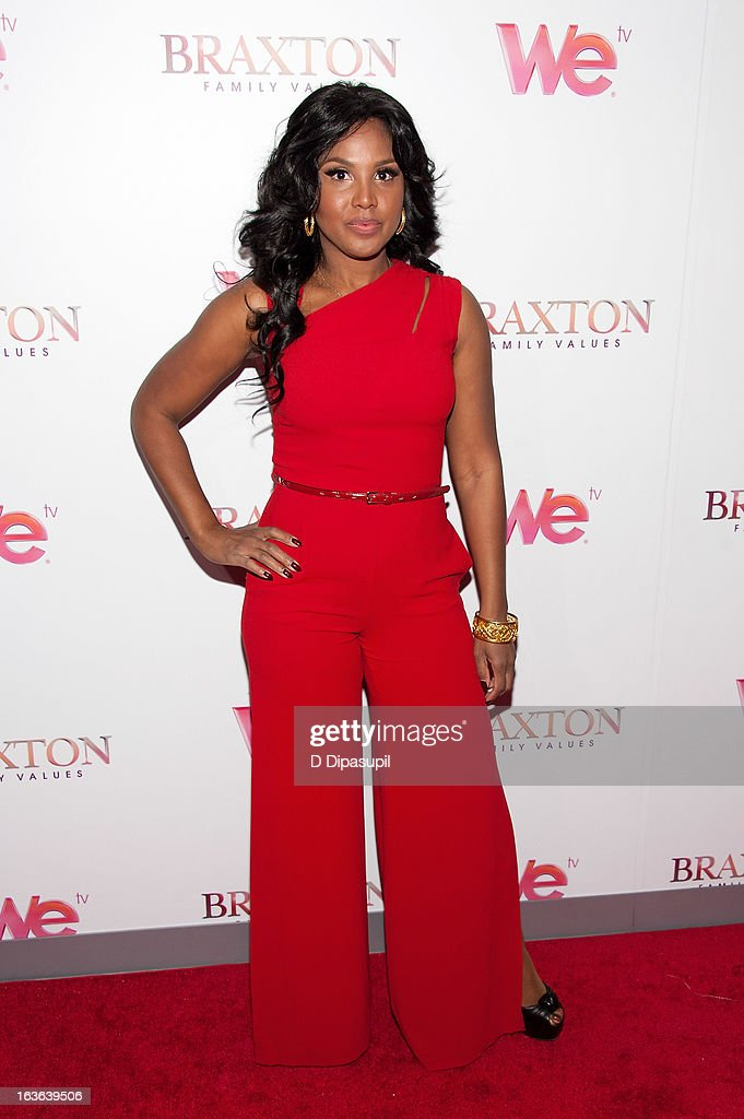 Toni Braxton attends the 'Braxton Family Values' Season Three premiere party at STK Rooftop on March 13, 2013 in New York City.