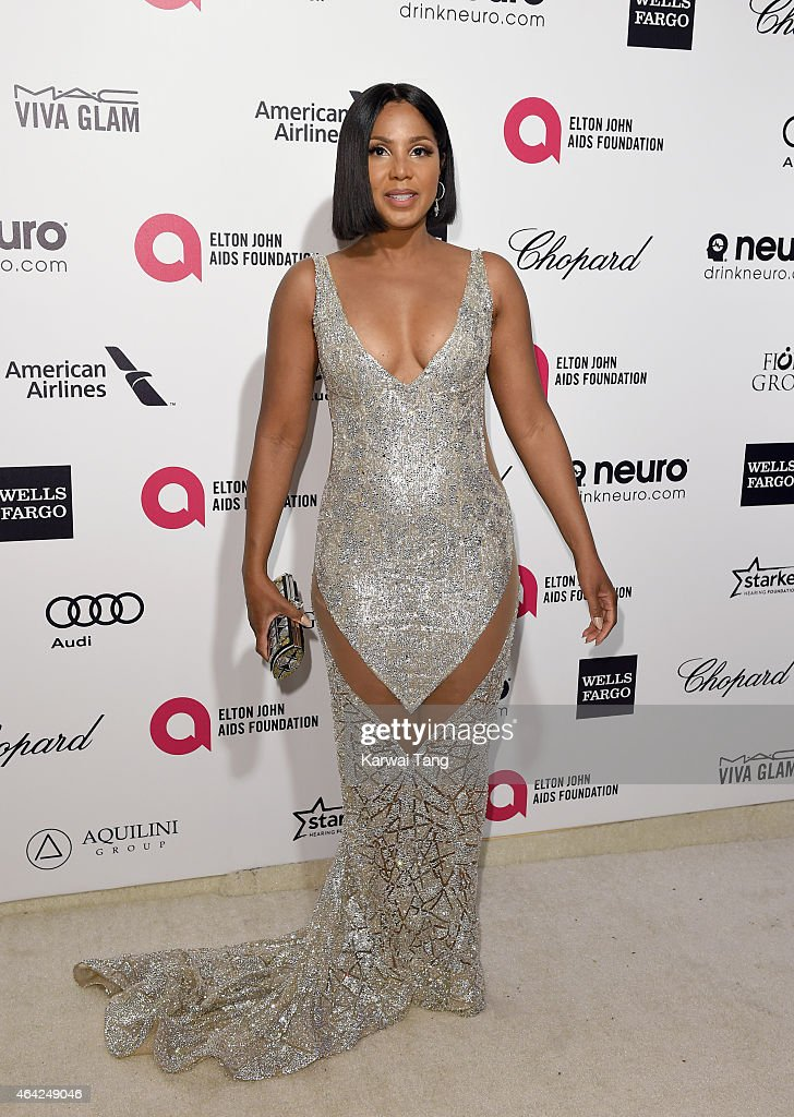 Toni Braxton attends the Elton John AIDS Foundation's 23rd annual Academy Awards Viewing Party at The City of West Hollywood Park on February 22, 2015 in West Hollywood, California.