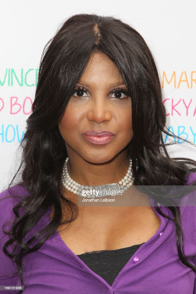 <a gi-track='captionPersonalityLinkClicked' href=/galleries/search?phrase=Toni+Braxton&family=editorial&specificpeople=213737 ng-click='$event.stopPropagation()'>Toni Braxton</a> attends the Tamar Braxton Hosts Carnival-Themed Baby Shower With Friends And Family at Hotel Bel-Air on May 5, 2013 in Los Angeles, California.