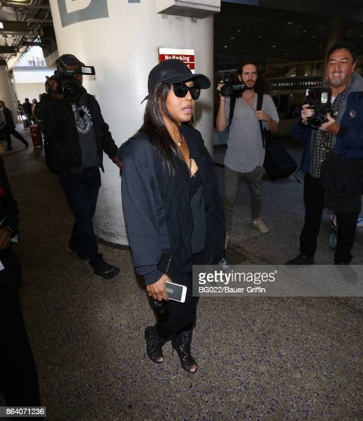 Toni Braxton is seen at LAX on October 20 2017 in Los Angeles California