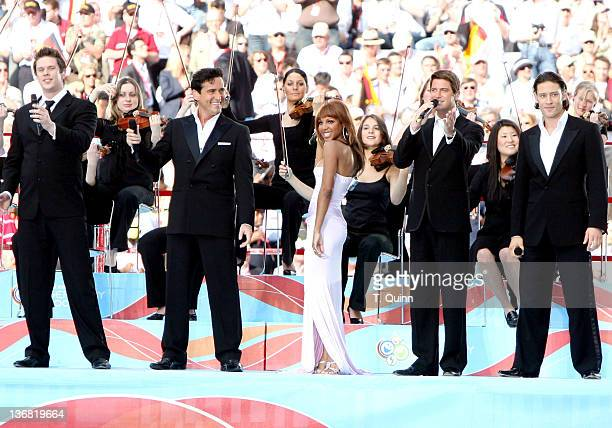 Toni Braxton performing in the opening ceremony of FIFA 2006 World Cup played in Munich Germany on June 9 2006 Germany defeated Costa Rica 42