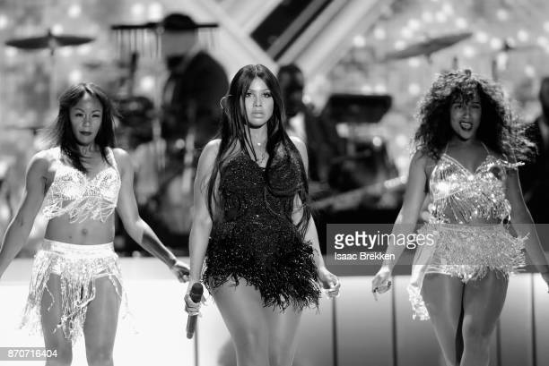 Toni Braxton performs onstage at the 2017 Soul Train Awards presented by BET at the Orleans Arena on November 5 2017 in Las Vegas Nevada