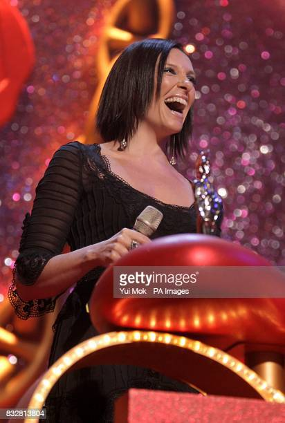 Toni Colette on stage during the BRIT Awards 2007 at Earls Court in central London PRESS ASSOCIATION Photo Picture date Wednesday February 14 2007...