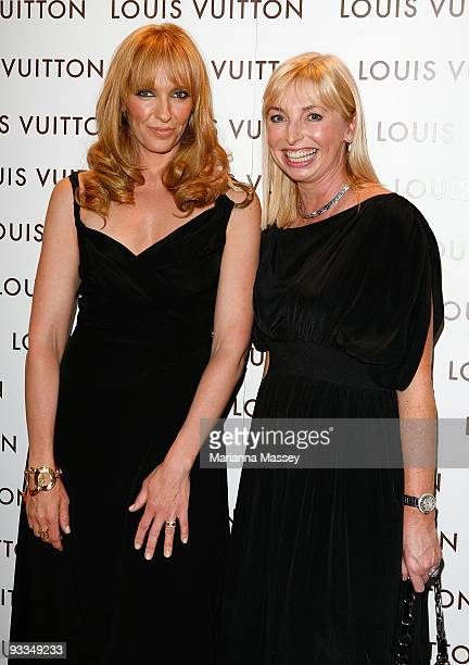 Toni Collette and Collette Garnsey arrive for the official opening of the new Louis Vuitton store at the Chadstone Shopping Centre on November 24...