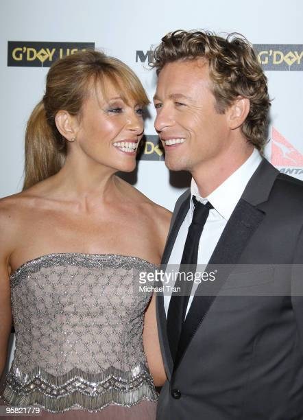 Toni Collette and Simon Baker arrive to the 2010 Australia Week Black Tie Gala held at the Grand Ballroom at Hollywood Highland Center on January 16...