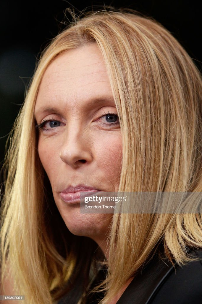 Toni Collette arrives at the Tropfest 2012 short film festival at The Royal Botanic Gardens on February 19, 2012 in Sydney, Australia.