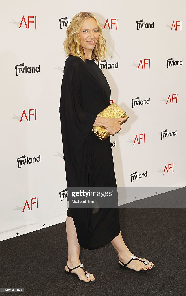 Toni Collette arrives at TV Land Presents: AFI Life Achievement Award honoring Shirley MacLaine held at Sony Studios on June 7, 2012 in Los Angeles, California.
