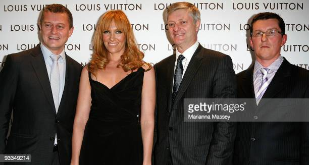 Toni Collette arrives for the official opening of the new Louis Vuitton store at the Chadstone Shopping Centre Nd poses with Jean Baptiste Debains...