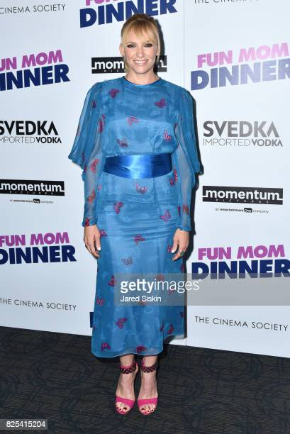 Toni Collette attends Momentum Pictures with The Cinema Society SVEDKA host a screening of 'Fun Mom Dinner' at the Landmark Sunshine Cinema on August...