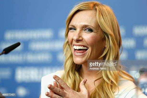 Toni Collette attends the 'A long way down' press conference during 64th Berlinale International Film Festival at Grand Hyatt Hotel on February 10...