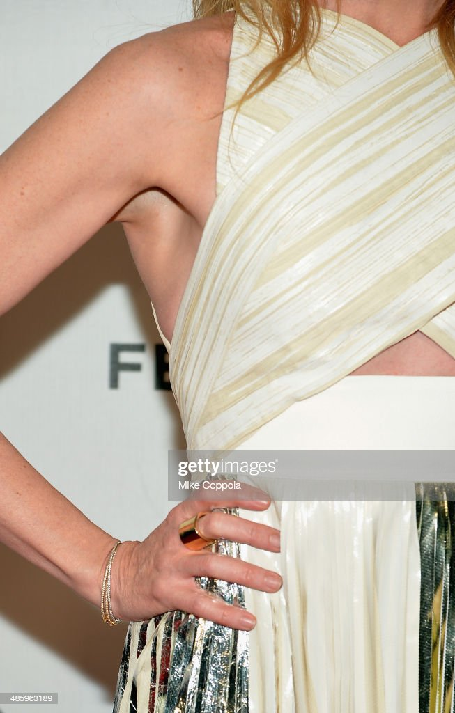 Toni Collette (fashion detail) attends the 'Lucky Them' Premiere during the 2014 Tribeca Film Festival at BMCC Tribeca PAC on April 21, 2014 in New York City.