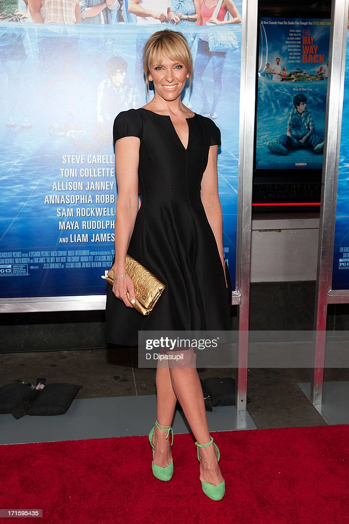 <a gi-track='captionPersonalityLinkClicked' href=/galleries/search?phrase=Toni+Collette&family=editorial&specificpeople=204673 ng-click='$event.stopPropagation()'>Toni Collette</a> attends 'The Way, Way Back' premiere at AMC Loews Lincoln Square on June 26, 2013 in New York City.