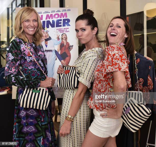 Toni Collette Kate Aselton and Molly Shannon attend the release party for 'Fun Mom Dinner' at Clare V on July 19 2017 in West Hollywood California