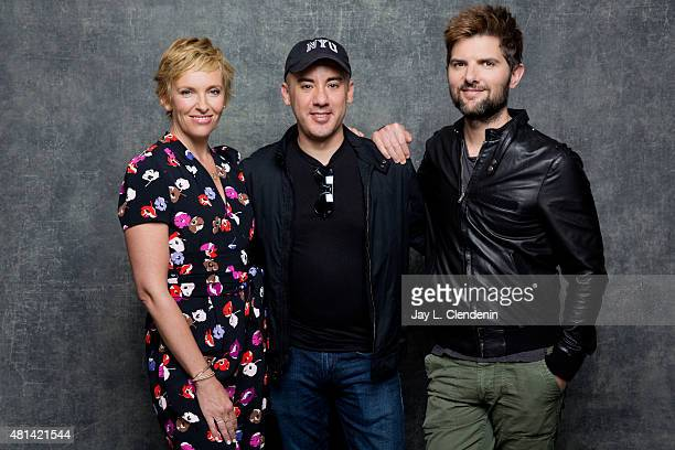 Toni Collette Michael Dougherty and Adam Scott of 'Krampus' pose for a portrait at ComicCon International 2015 for Los Angeles Times on July 9 2015...