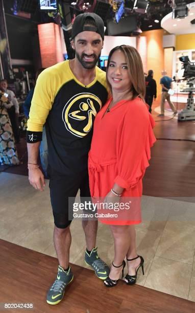 Toni Costa and Adamari Lopez attends the DM3 Press Day Miami Un Nuevo Dia on June 27 2017 in Hialeah Florida