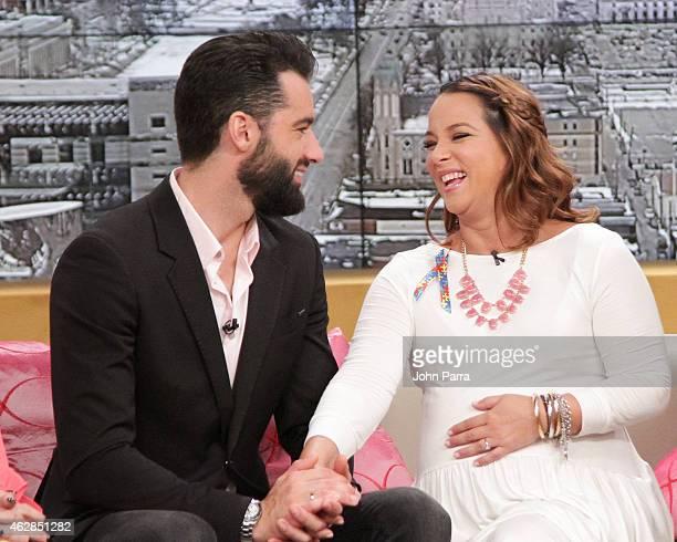 Toni Costa and Adamari Lopez during their baby shower at Telemundo Studio on February 6 2015 in Miami Florida