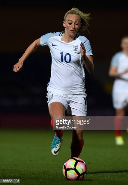 Toni Duggan of England during the International Friendly between England Women v Italy Women at Vale Park on April 7 2017 in Burslem England