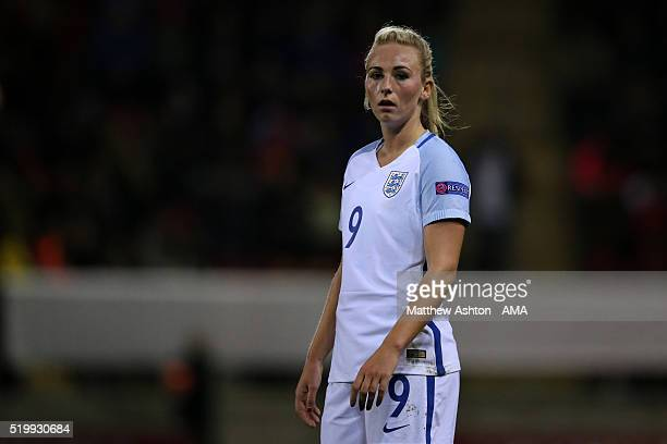 Toni Duggan of England during the UEFA Women's European Qualifer between England and Belgium at The New York Stadium on April 8 2016 in Rotherham...
