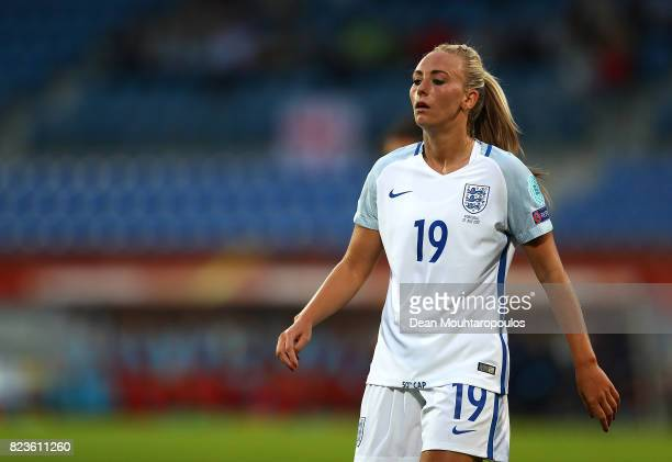 Toni Duggan of England looks on during the UEFA Women's Euro 2017 Group D match between Portugal and England at Koning Willem II Stadium on July 27...