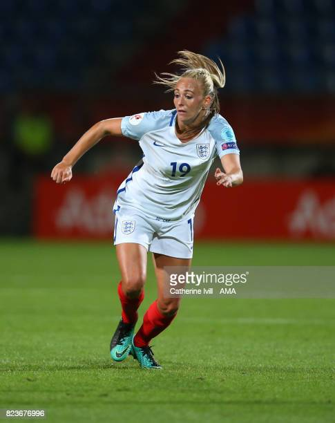 Toni Duggan of England Women during the UEFA Women's Euro 2017 match between Portugal and England at Koning Willem II Stadium on July 27 2017 in...