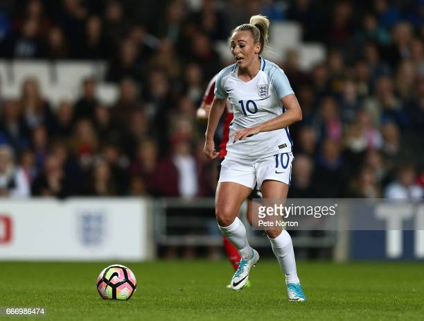 Toni Duggan of England Women in action during the International Friendly match between England Women and Austria Women at Stadium mk on April 10 2017...