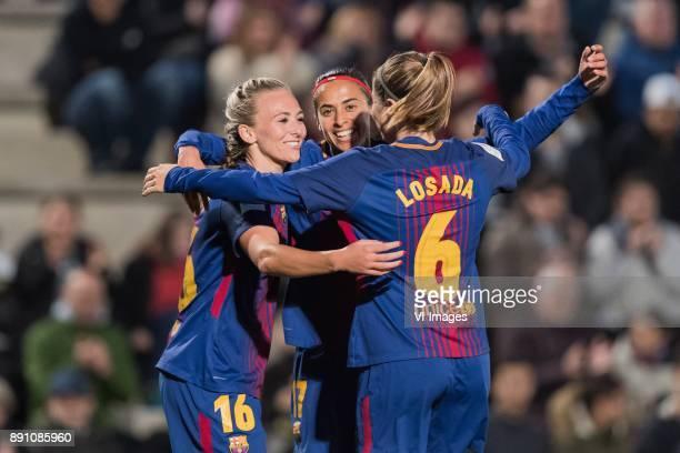 Toni Duggan of FC Barcelona women Andressa Alves da Silva of FC Barcelona women Maria Victoria Losado Gomez of FC Barcelona women during the La Liga...