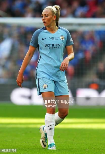 Toni Duggan of Manchester City WFC during The SSE FA Women's CupFinal match betweenBirmingham City Ladies v Manchester City women at Wembley stadium...