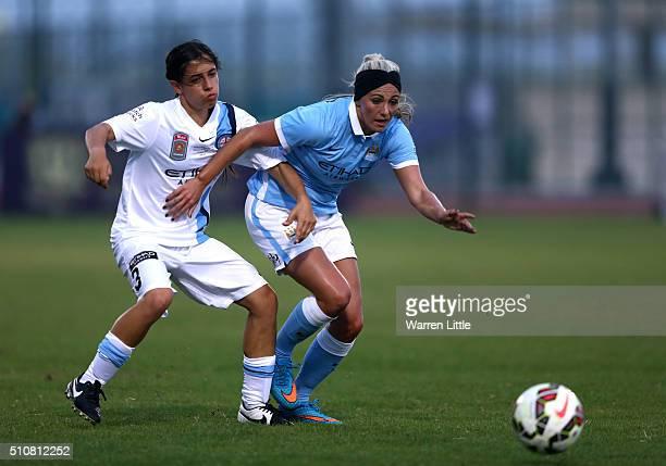 Toni Duggan of Manchester City Women's FC action during the Fatima Bint Mubarak Ladies Sports Academy Challenge between Melbourne City Women and...