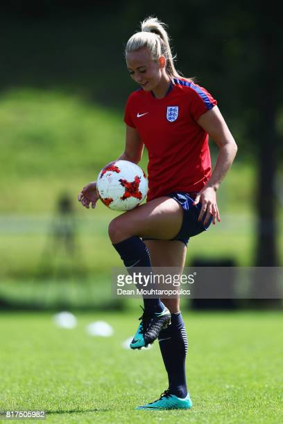 Toni Duggan of the England women's national team in action during a training session on the eve of their UEFA Women's 2017 Group D match...
