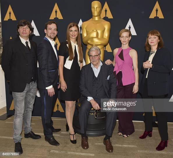 'Toni Erdmann' producers Jonas Dornbach Janine Jackowski actors Peter Simonischek Sandra Huller and Director Maren Ade attend 89th Annual Academy...