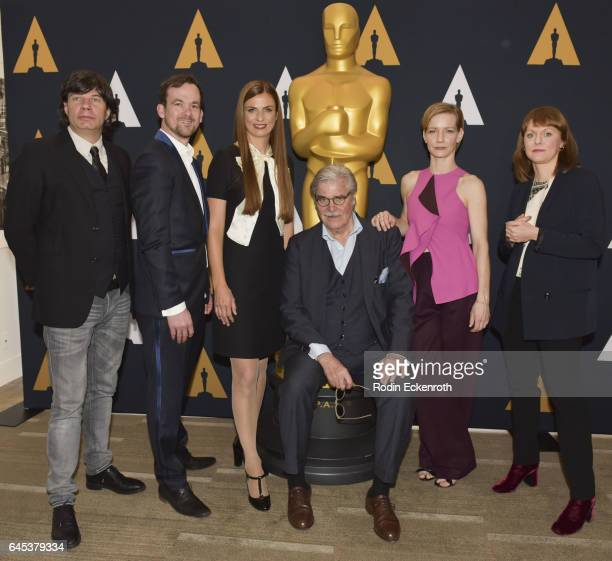 'Toni Erdmann' producers Jonas Dornbach Janine Jackowski actors Peter Simonischek Sandra Huller and Director Maren Ade attend 89th Annual Academy...