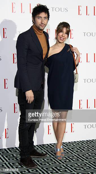 Toni Garrido and Celia Montalban attend the presentation of Love Book by Elle magazine on February 14 2012 in Madrid Spain