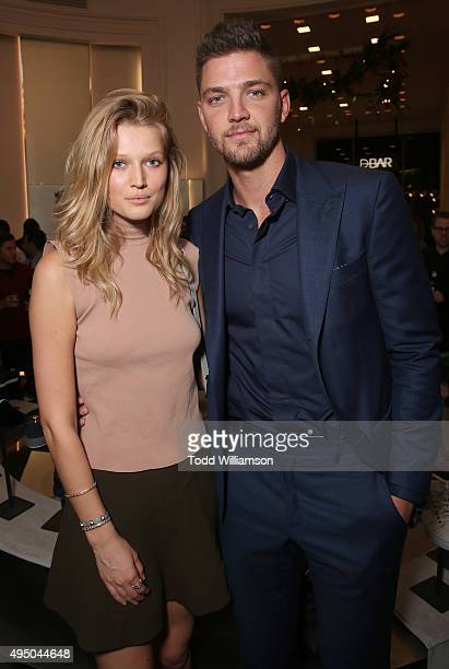 Toni Garrn and Chandler Parsons attend a Del Toro Chandler Parsons Event at Saks Fifth Avenue Beverly Hills on October 30 2015 in Beverly Hills...