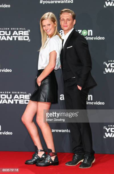 Toni Garrn and Matthias Schweighoefer arrive at Amazon's Prime Video premiere of the series 'You are Wanted' at CineStar on March 15 2017 in Berlin...