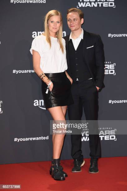 Toni Garrn and Matthias Schweighoefer attend the premiere of the Amazon series 'You are wanted' at CineStar on March 15 2017 in Berlin Germany